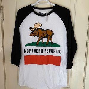 NWT Bluenotes Northern Republic long sleeve tee